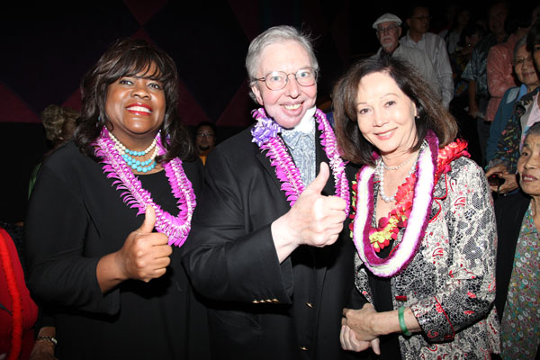 Roger & Chaz Ebert, Nancy Kwan. Click here to link to The News page